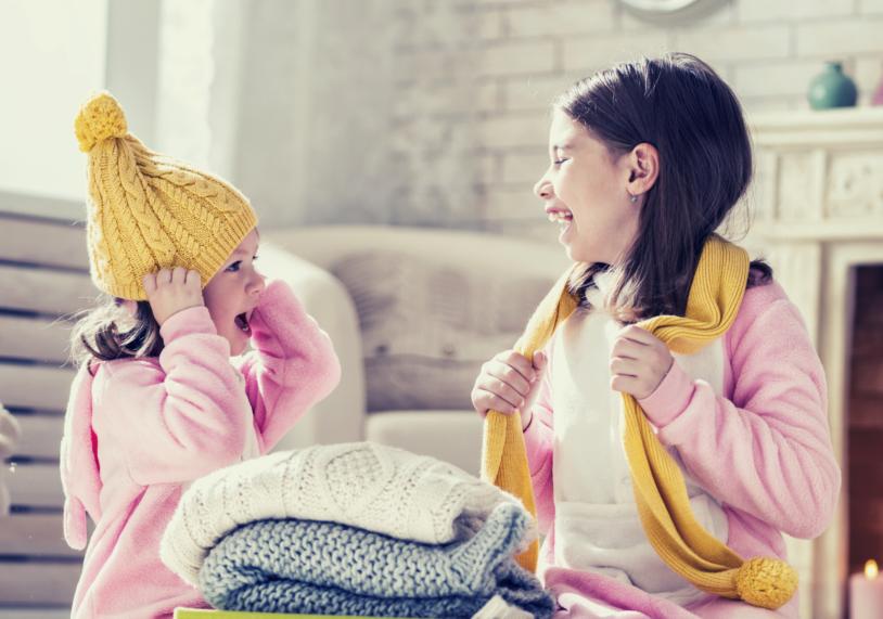 kids dressing for winter